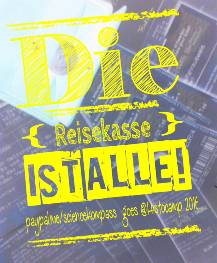 Fundraising Reisekasse - Histocamp2016