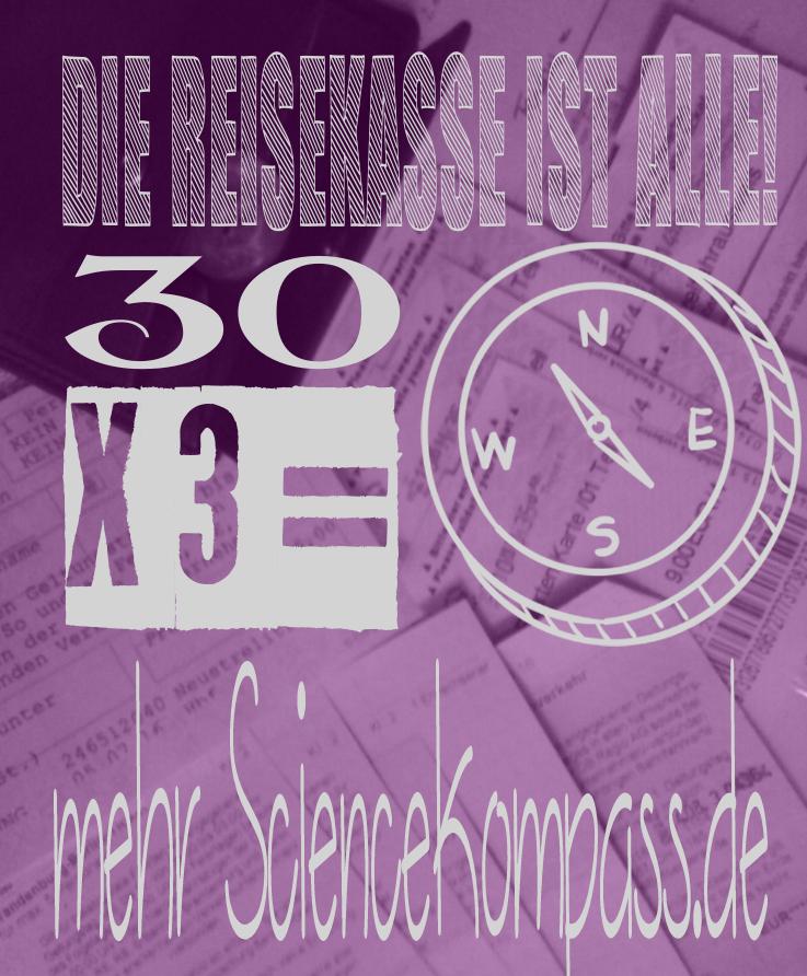 Sciencekompass Podcast Funding 30 x 3 Euri